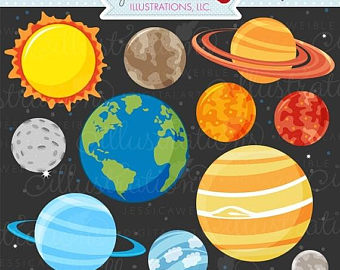 Science clipart outer space Etsy Use art Space SALE