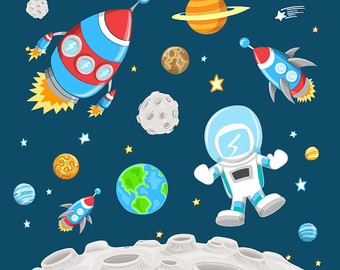 Science clipart outer space  pack clip pack SPACE