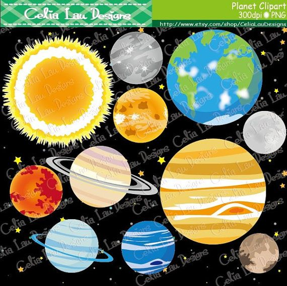 Science clipart outer space CeliaLauDesigns Pinterest 25+ Planets on
