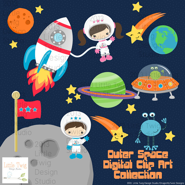 Science clipart outer space Clipart  Astronauts Kids Outer