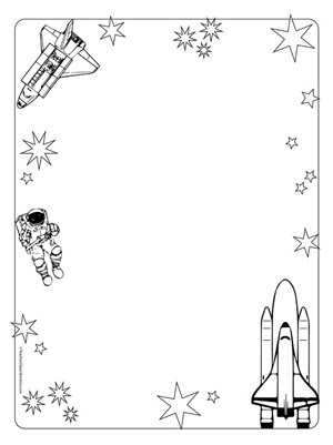 Science clipart outer space Borders Space Portrait Blank Travel