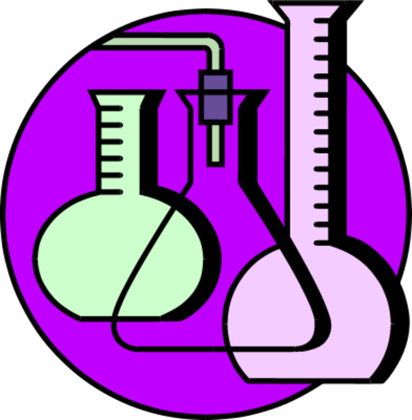 Science clipart purple #6