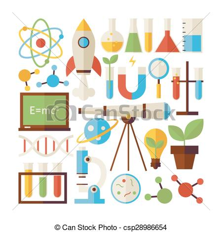 Science clipart science education Style White Isolated Objects Science