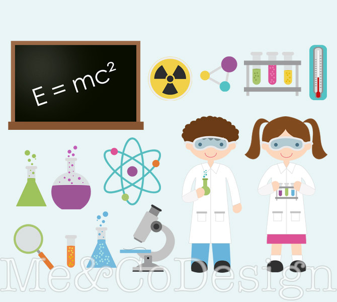 Science clipart science education Science Commercial Personal Download Labels