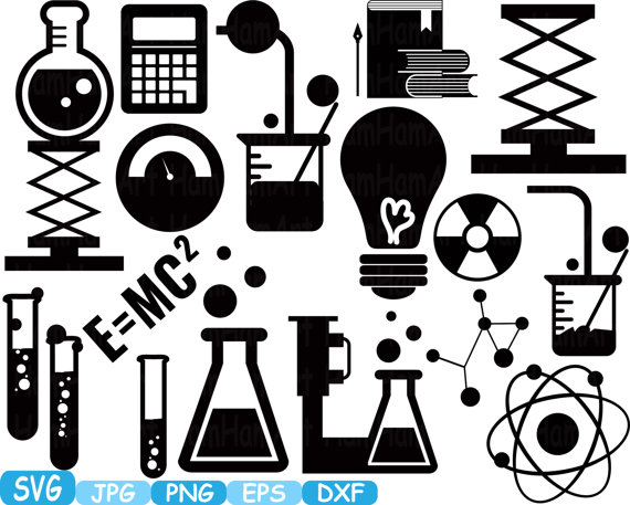 Science clipart silhouette #1