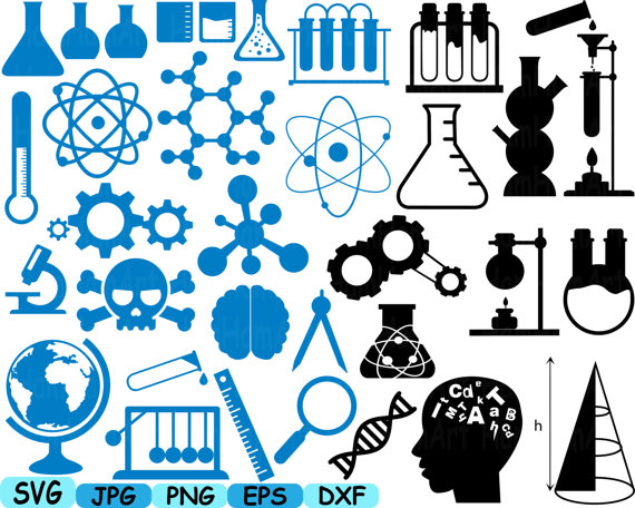 Science clipart silhouette Math dxf  scientific Science