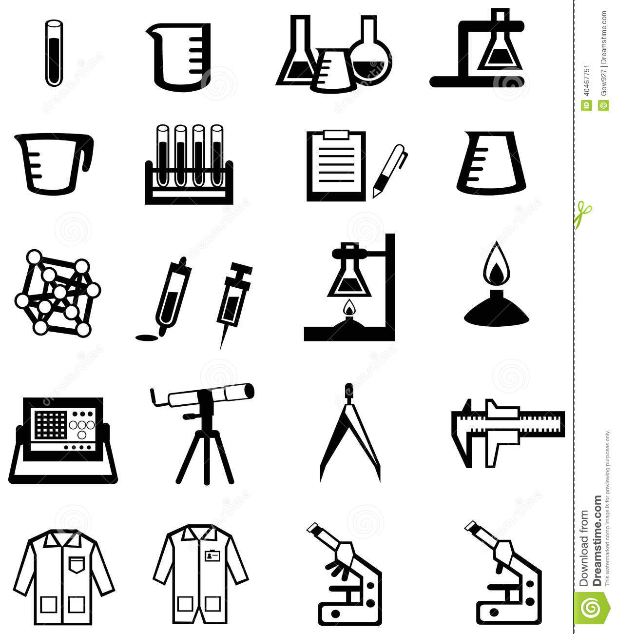 Science clipart silhouette #5