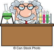 Scientist clipart And Mad royalty Professor Illustrations