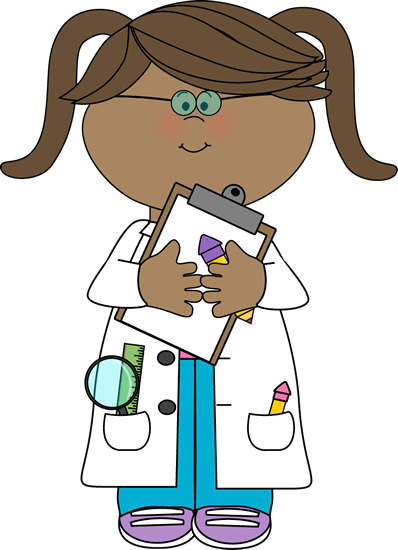Scientist clipart monkey Girl Images with Clipboard Science