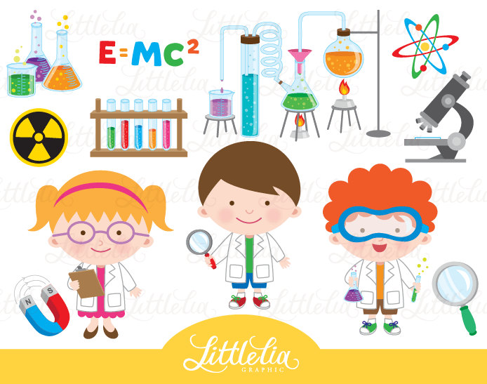 Scientist clipart creepy Etsy clipart Mad 15044 Science