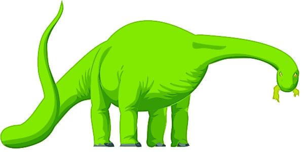 Scientist clipart dinosaur (Brontosaurus) shows Dinosaur Apatosaurus
