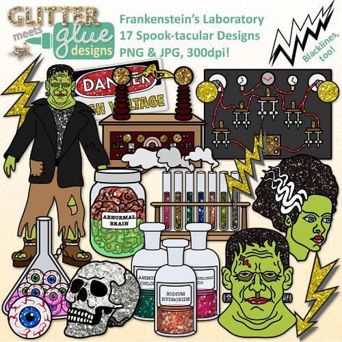 Frankenstein clipart brain Chemistry Halloween on {Test best