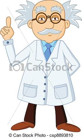 Science clipart science cartoon Scientist Funny scientist character cartoon