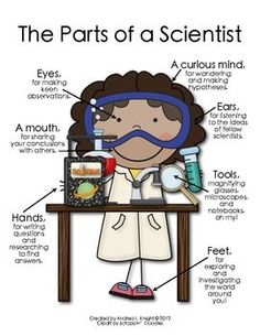 Scientist clipart kindergarten science Chalk a Can Tones} {Girl