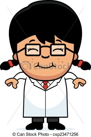 Scientist clipart little scientist Vector  Little Smiling Scientist