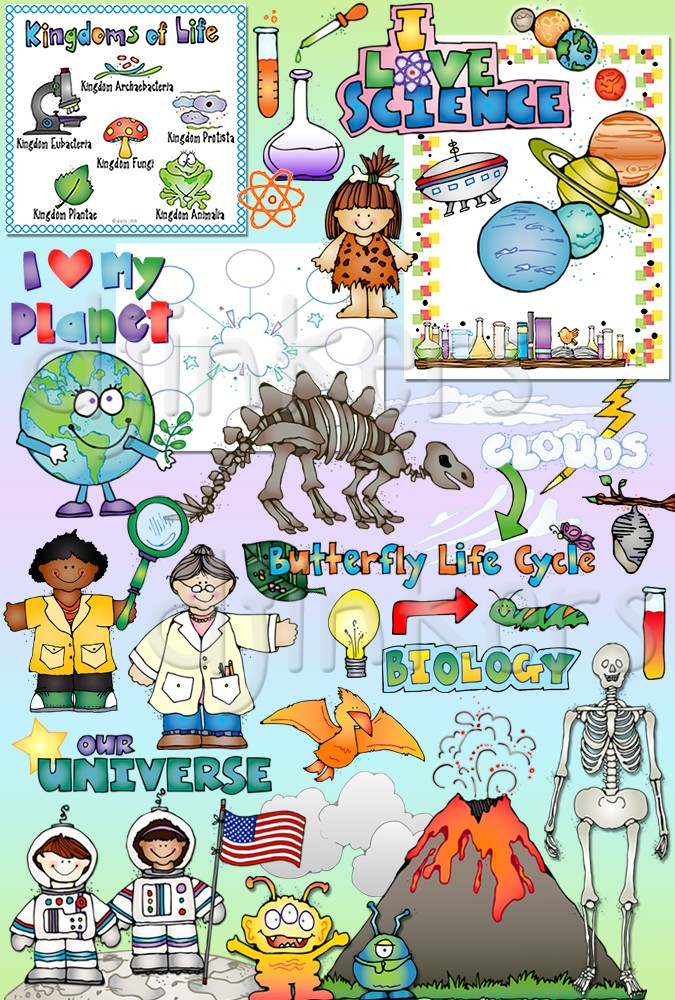 Scientist clipart math and science Science kids life art scientist