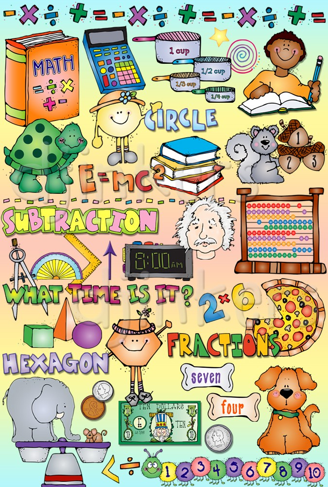 Scientist clipart math and science And shapes measurement for Fun