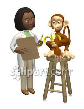 Scientist clipart monkey #3