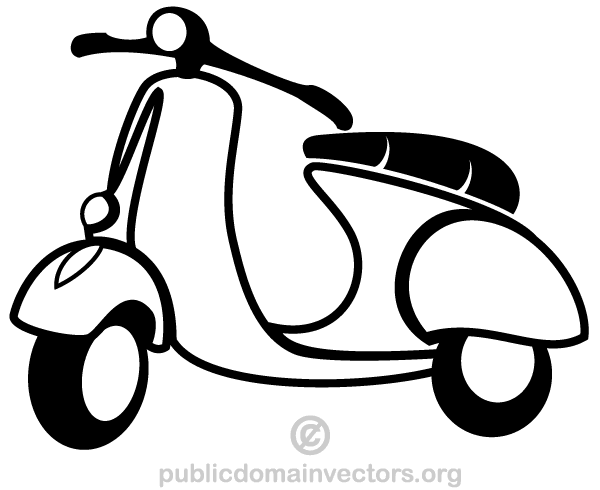 Scooter clipart Pinterest  Scooter Free Vector