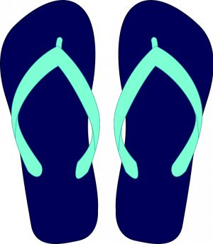Converse clipart blue object On flipflops domain images Vector