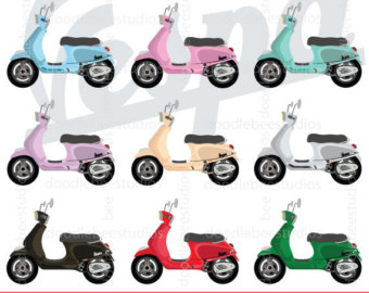 Motorcycle clipart motorbike Electric Scooter Clipart Vespa Vespa