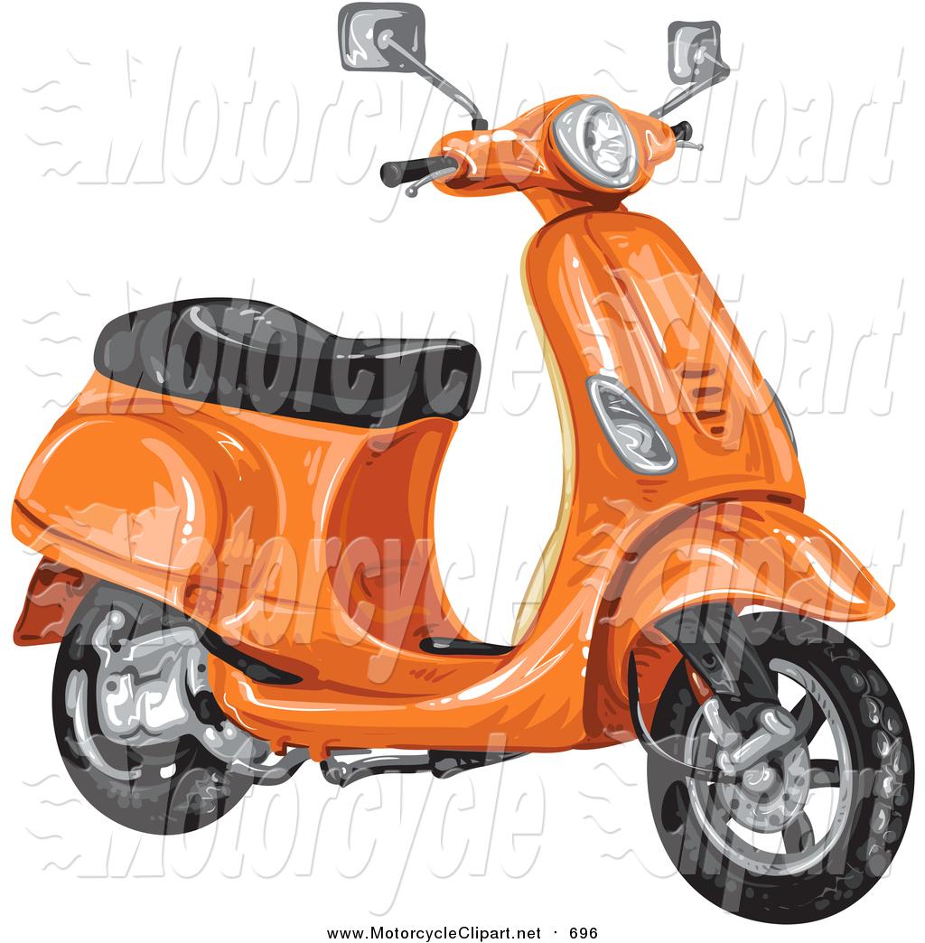 Motorcycle clipart orange Orange  Transportation Motorcycle merlinul