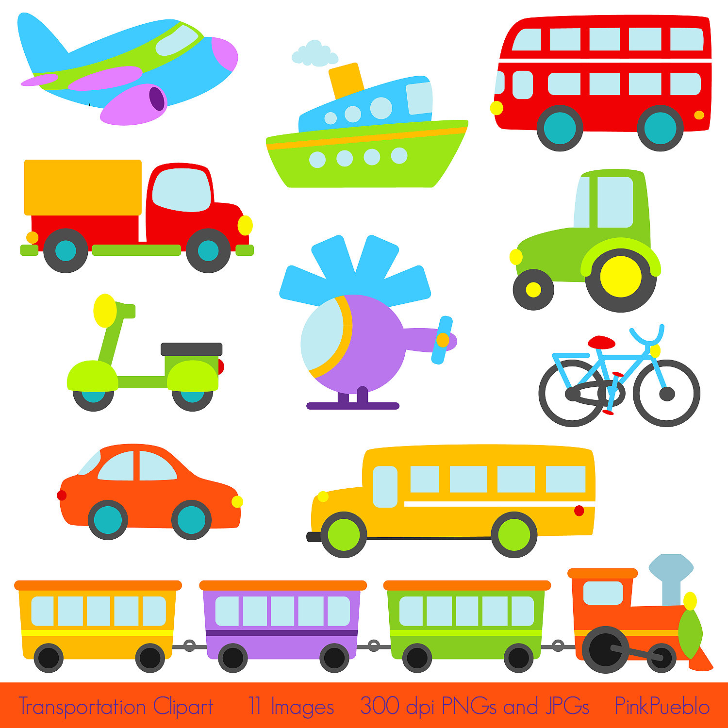 Boat clipart airplane Bus  Car Personal Train