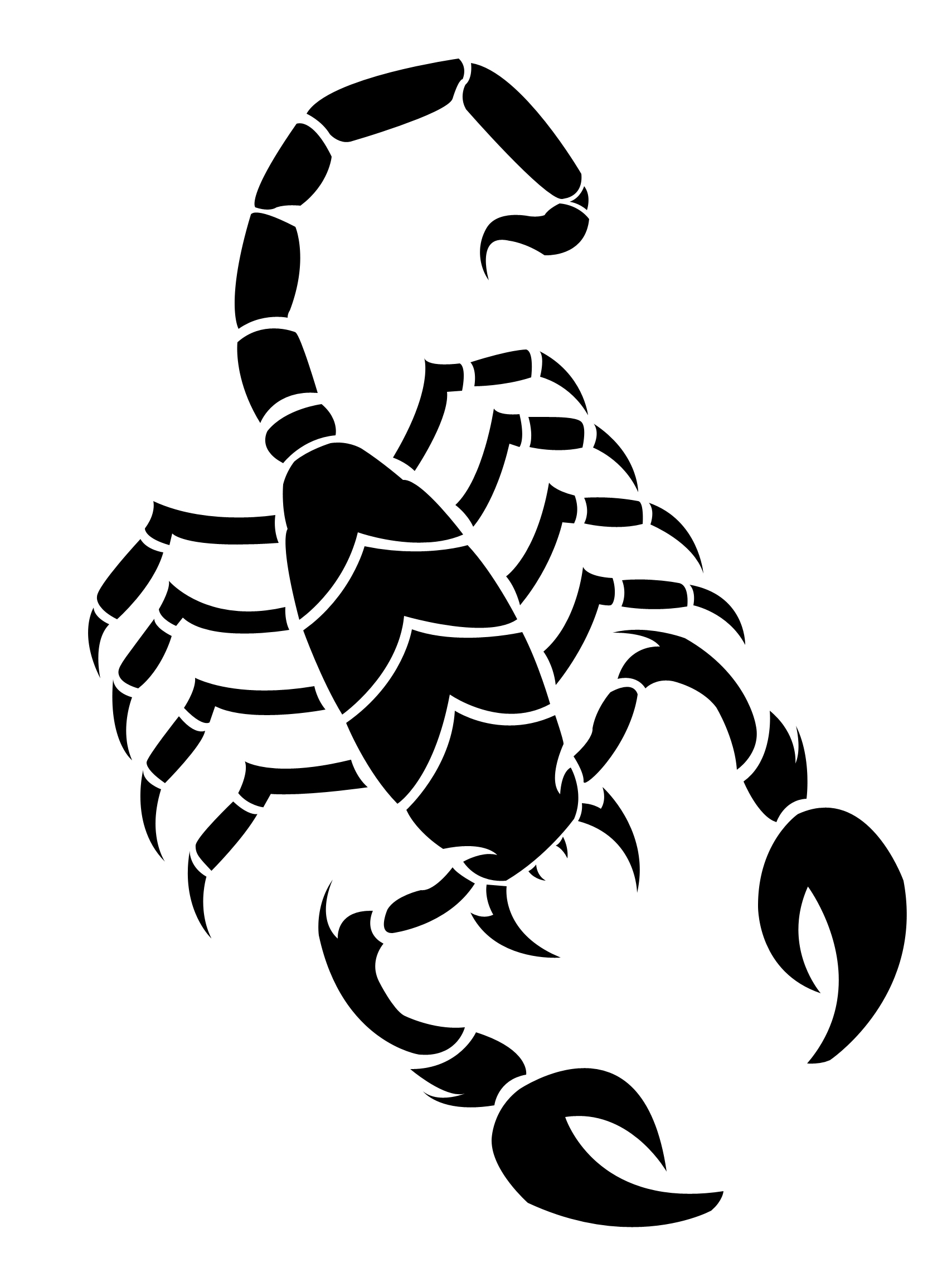 Scorpion clipart Vector drawing Scorpion art WikiClipArt