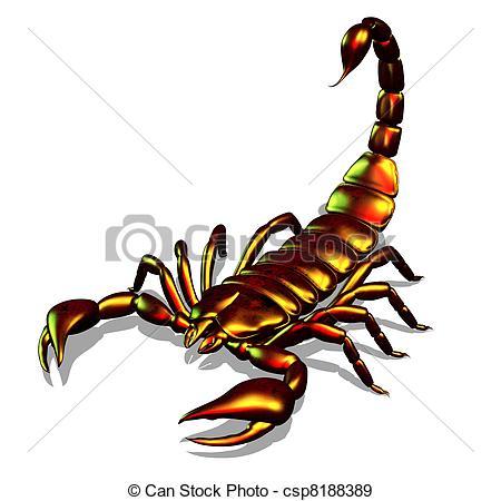 Scorpion clipart Art Scorpion 020  Metallic