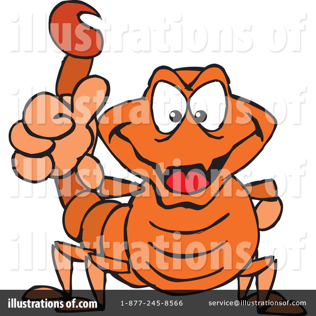 Scorpion clipart orange #13