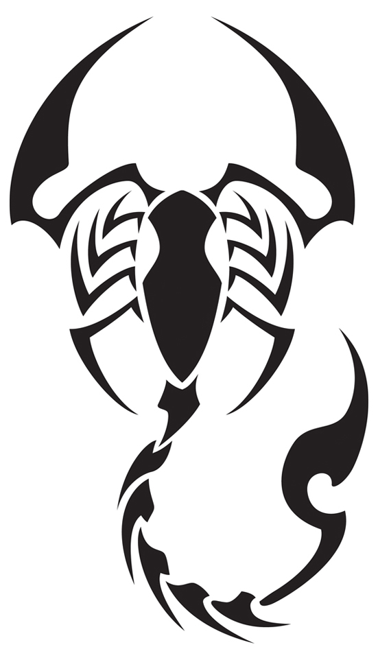 Drawn scorpion outline Free Drawing Gallery on Free