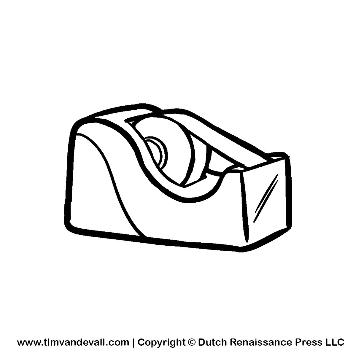 Scotch clipart tape dispenser #7