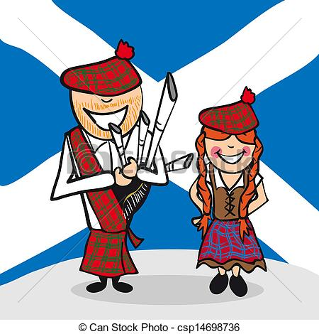 Scotland clipart 093 man woman Scotland Scottish