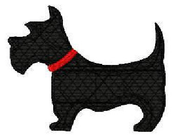 Scottish Terrier  clipart Design Doggy Machine pattern Embroidery