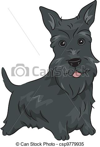 Scottish Terrier  clipart Scottish Terrier Featuring Illustrations Scottie