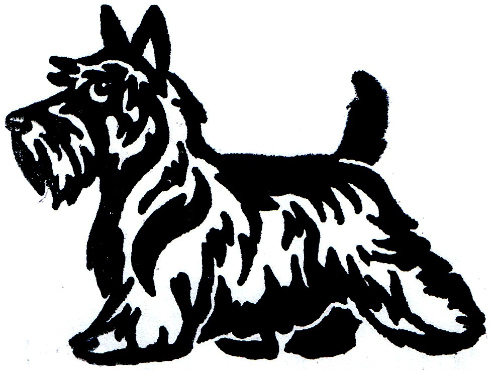 Scottish Terrier  clipart Cartoon Cartoon Scottish Scotties <3