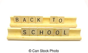 Scrabble clipart Illustrations To Back to School