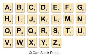 Scrabble clipart Illustrations of set complete set