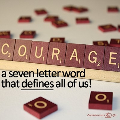 Scrabble clipart courage On seven Courage letter Simple