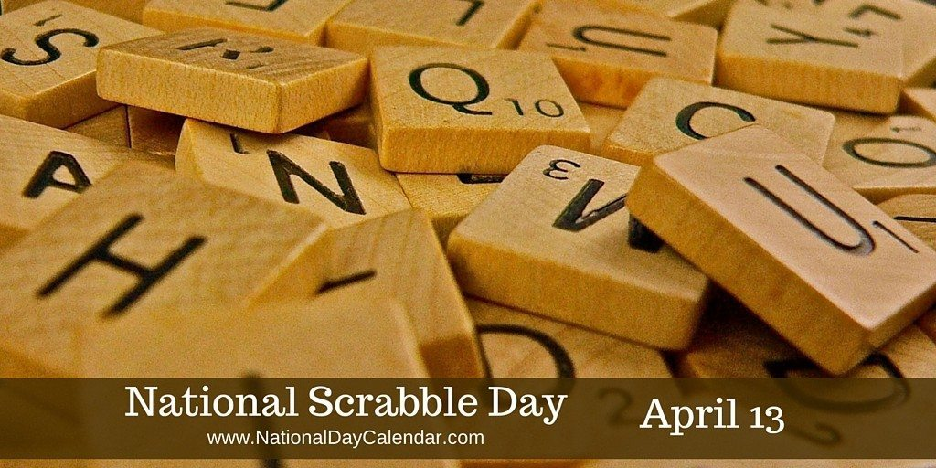 Scrabble clipart day NATIONAL National 13 SCRABBLE –