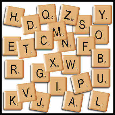 Scrabble clipart individual Scrabble Tiles individual tiles Digi