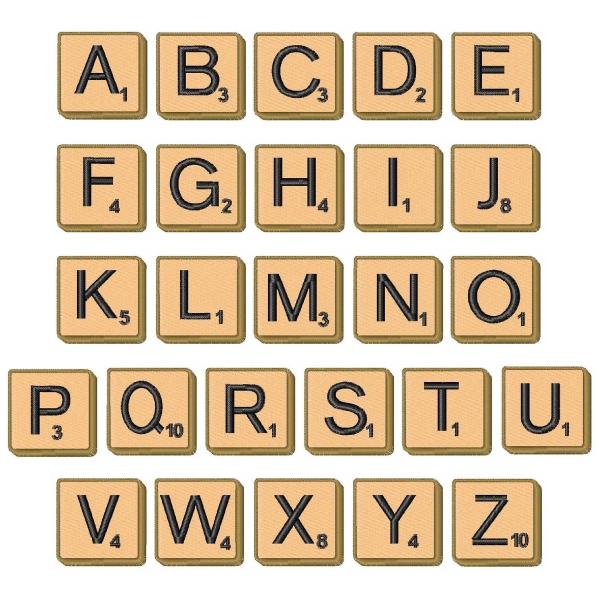 Scrabble clipart individual Tiles Cliparts Cliparts Letter Letter