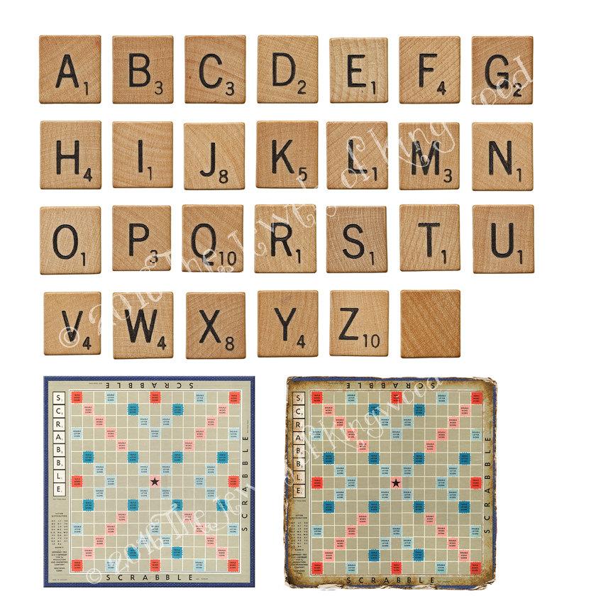 Scrabble clipart individual Scrabble DIY Project Kit Scrapbooking
