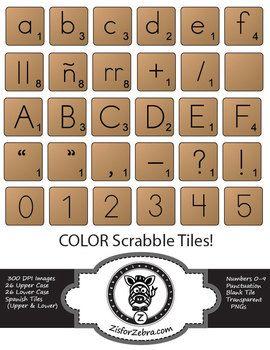 Scrabble clipart language art About español numbers extras Art