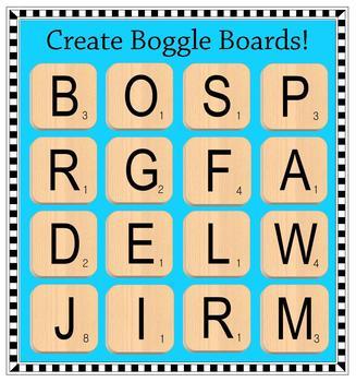 Scrabble clipart language art Clip ~Commercial Use Scrabble Tiles