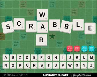 Scrabble clipart language art Commercial Scrabble ABC Scrapbook Art