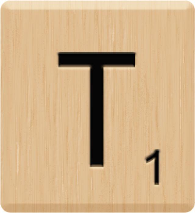 Scrabble clipart letter t Letters on Scrabble Art images