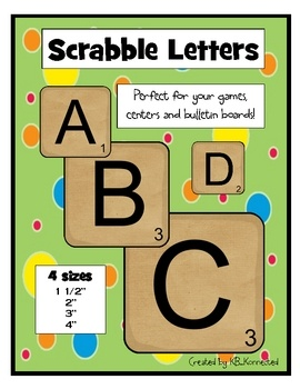 Scrabble clipart literacy station Printable scrabble boards Pinterest Best