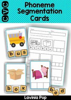 Scrabble clipart phonemic awareness CVC Puzzles  awareness Phonemic