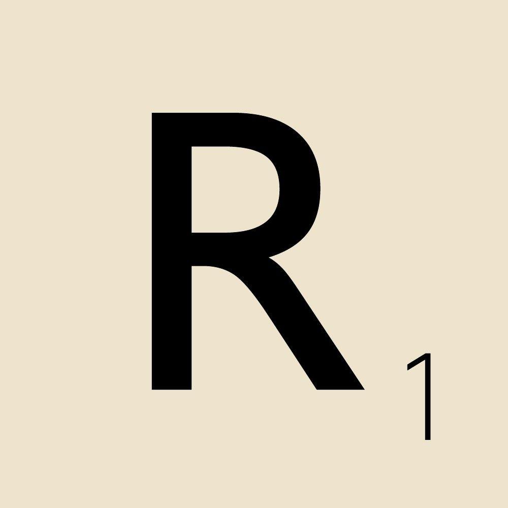 Scrabble clipart scrabble letter ' Letter Tile 'R' Scrabble